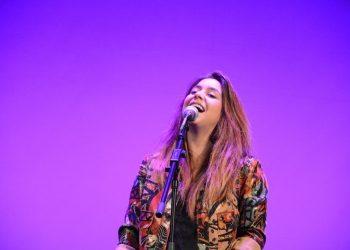 Marta Soto, durante su actuación en San Roque