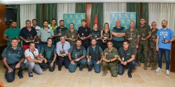 Los premiados, durante el acto de entrega de trofeos.
