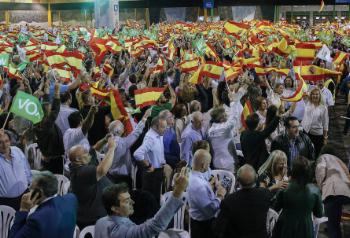 Un momento del acto, en Málaga.