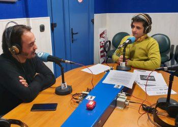 David Morales en el magazine Herrera en Cope Campo de Gibraltar con nuestro compañero, Rubén García.