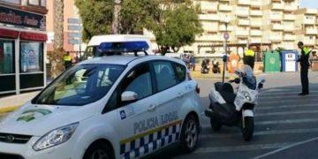 Control de la Policía Local en el centro de la ciudad