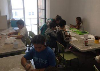 Niños participantes en la actividad