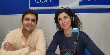 Rubén García y Mar Polanco, en los estudios de COPE