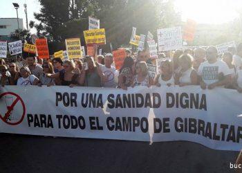 Imagen de archivo de una de las protestas por la sanidad en la comarca