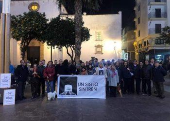Andalucía Bay en una de sus concentraciones por 'Un siglo sin tren'