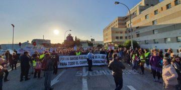 Imagen de la protesta por la sanidad en Algeciras