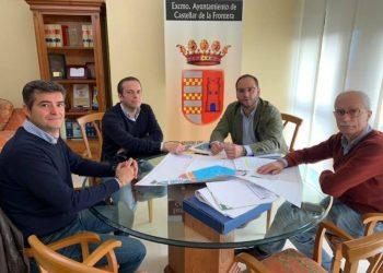 El alcalde de Castellar y Endesa, reunidos este miércoles.