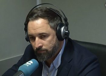 El líder de Vox, Santiago Abascal, ayer en COPE.