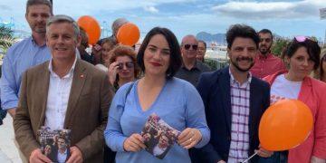 María del Carmen Martínez, durante su visita a Algeciras