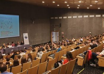 Alumnos en la sala Cádiz del Palacio de Congresos, este martes