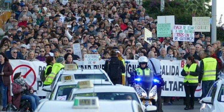 Imagen de archivo de la manifestación por la sanidad en Algeciras