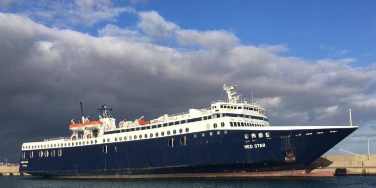 Uno de los buques expedientados.