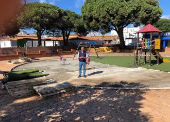 Imagen de las mejoras en el parque de San Isidro