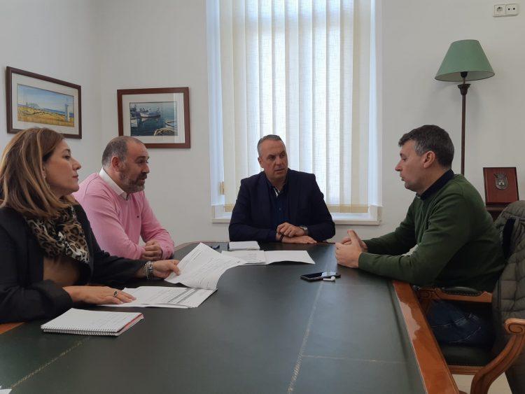 Ruiz Boix, con el alcalde de Jimena