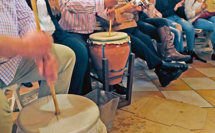 Imagen de una zambomba, tradicional en estas fechas