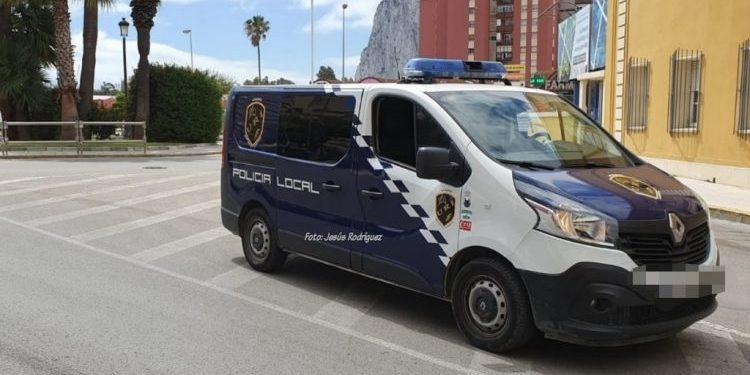 Un vehículo policial en imagen de archivo