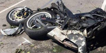 Imagen de un accidente de moto