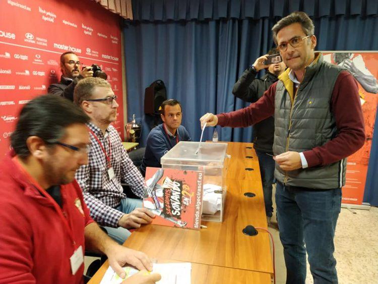 Nicolás Andión, en su reciente votación