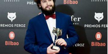 El barreño, Miguel Ángel Trudu, durante la pasada edición de los premios Feroz.