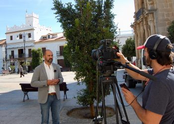 Alconchel durante la presentación del vídeo.