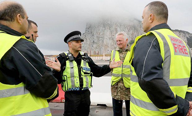 El Servicio de Bomberos y la policía han tenido una actuación crucial