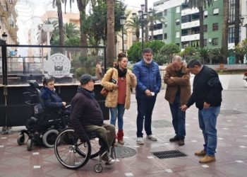 Ñeco y Fegadi visitan las calles peatonalizadas