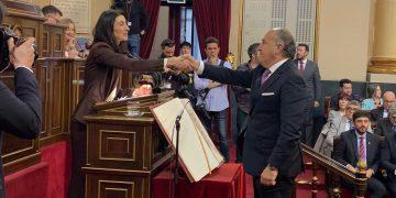 Landaluce, en el Senado, este martes.