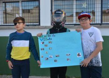 Alumnos del colegio San Bernardo de San Roque.