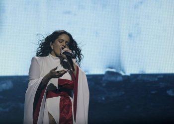 La cantante Rosalía en uno de sus últimos conciertos.