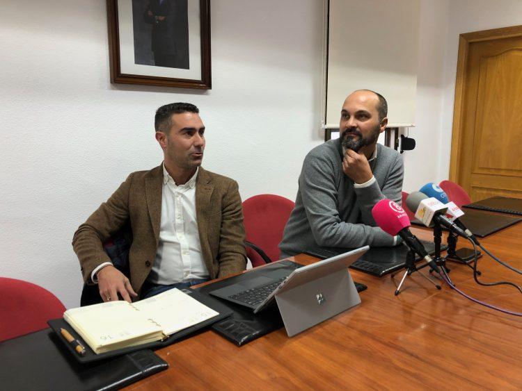 Pablo García y Miguel Alconchel, en rueda de prensa