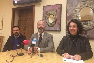Carmen Sánchez, Alexis García y Susana González en rueda de prensa