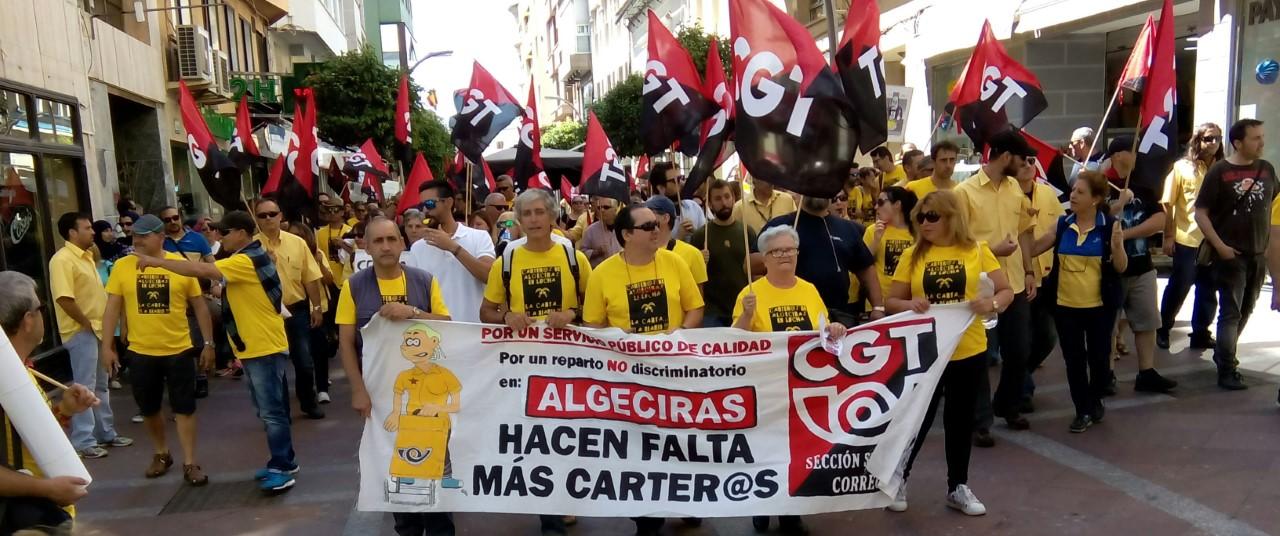 Imagen de archivo de una protesta de Correos