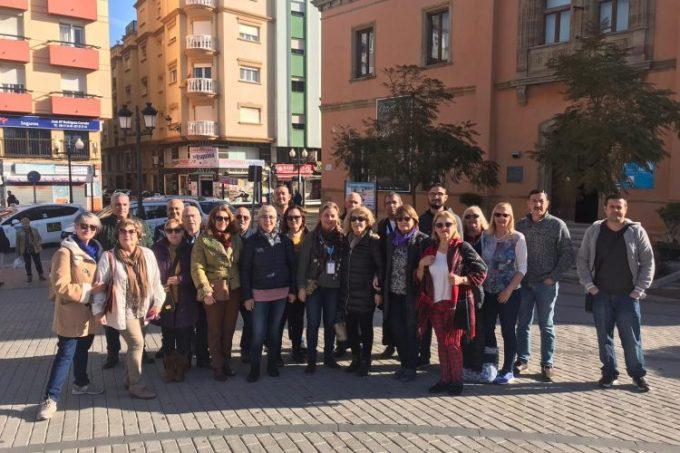 Los participantes en la ruta
