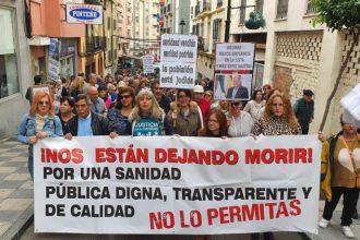 Protestas para exigir una sanidad pública de calidad