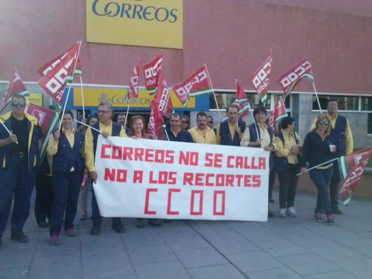 Imagen de archivo de una protesta de Correos en Algeciras