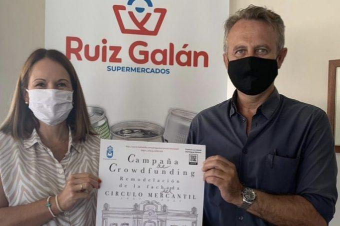 Raquel Ruiz, gerente de Ruiz Galán y Jaime Chacón, vicepresidente de la Asociación Fuerte de Santa Bárbara